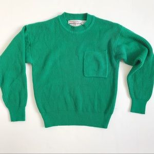 Vintage Westbound Cropped Green Sweater Size S